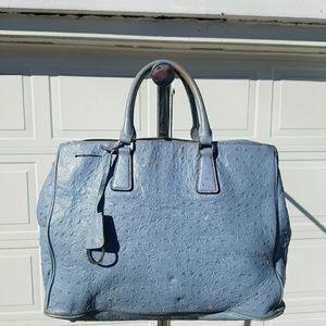 Prada ostrich leather bag